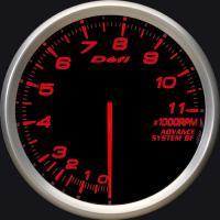Zegar DEFI ADVANCE BF Obrotomierz 11000rpm 80mm - czerwone podświetlenie