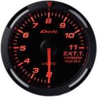 Zegar DEFI Racer Gauge Temperatura spalin 52mm - czerwone podświetlenie