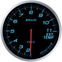 Zegar DEFI ADVANCE BF Temperatura spalin - niebieskie podświetlenie