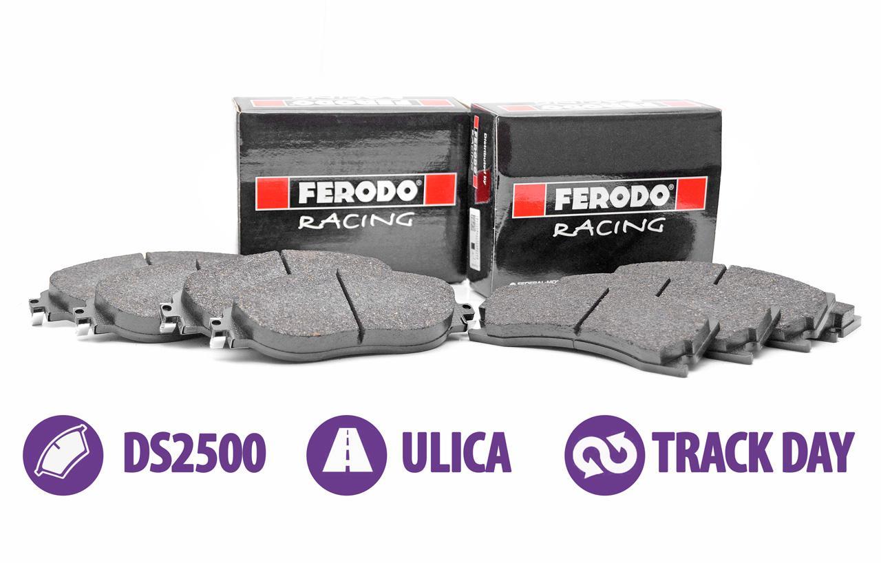 Zestaw klocków hamulcowych Ferodo DS2500 - Abarth Punto   2WD (FCP1667H+FCP1858H)