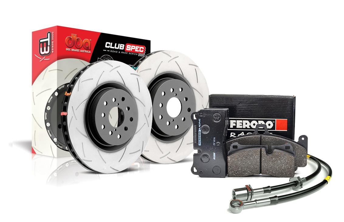 Zestaw Specjalny - Tarcze DBA 4000 T3 + klocki hamulcowe FERODO DS2500 - Mitsubishi Lancer EVO X (przód)  DBA 42224S+FCP1334H